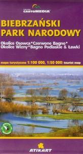 Biebrzański Park Narodowy mapa turystyczna 1:100 000
