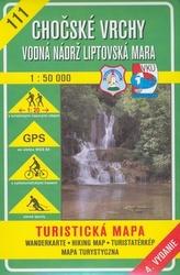 Chočské vrchy Vodná nádrž Liptovská Mara 1:50 000