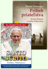 Balíček 2 ks Príbeh priatežstva Santo Subito Blahorečenie 2011