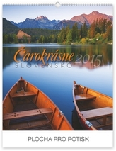 Čarokrásne Slovensko se slovenskými menami Praktik SK - nástěnný kalendář 2015