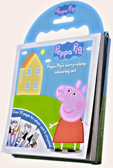 Prasátko Peppa - 60 omalovánek s voskovkami + DVD