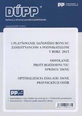 DUPP 10/2013 Uplatňovanie daňového bonusu zamestnancom a podnikateľom v roku 2013