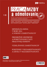 Práca, mzdy a odmeňovanie 10/2013