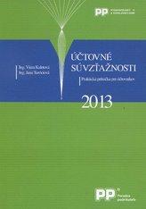 Účtovné súvzťažnosti 2013