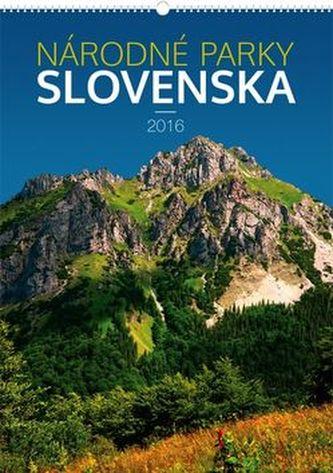 Národné parky Slovenska  - nástěnný kalendář 2016