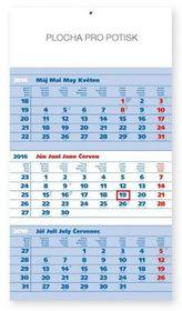 Štandard modrý 3mesačný - nástěnný kalendář 2016