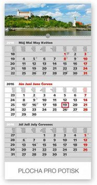 Mesto šedý 3mesačný - nástěnný kalendář 2016