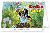 Krtko - stolní kalendář 2016