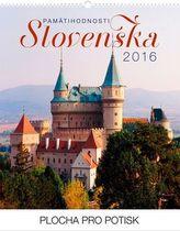 Pamätihodnosti Slovenska Praktik - nástěnný kalendář 2016