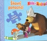 Máša a medveď-Šikovní pomocníci-kniha s puzzle