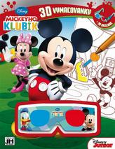 Mickeyho klubík 3D vymaľovanky