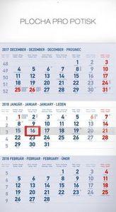 3mesačný štandard modrý 2018 - nástěnný kalendár