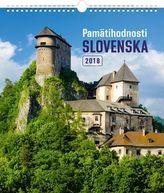 Pamätihodnosti Slovenska 2018 - nástěnný kalendář