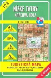 Nízke Tatry, Kráľova Hoľa 1 : 50 000