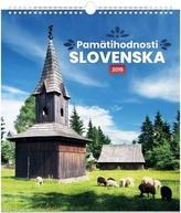 Pamätihodnosti Slovenska - nástěnný kalendář 2019