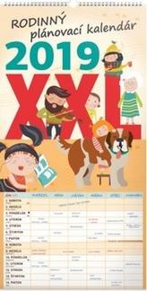 Rodinný plánovací XXL kalendář - nástěnný kalendář 2019