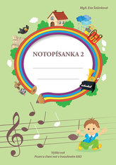 Notopísanka 2 - Výška not , psaní a čtení not v houslovém klíči