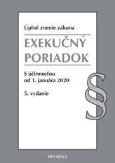 Exekučný poriadok. Úzz, s účinnosťou od 1. januára 2020, 5. vydanie