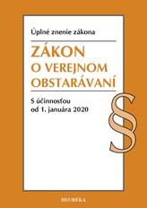 Zákon o verejnom obstarávaní. Úzz, 2020