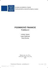 Podnikové financie - praktikum 2