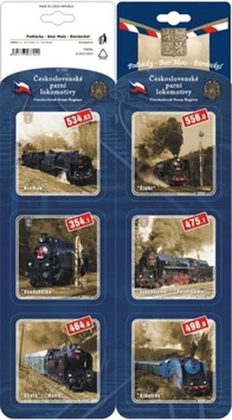Podtácky Československé parní lokomotivy